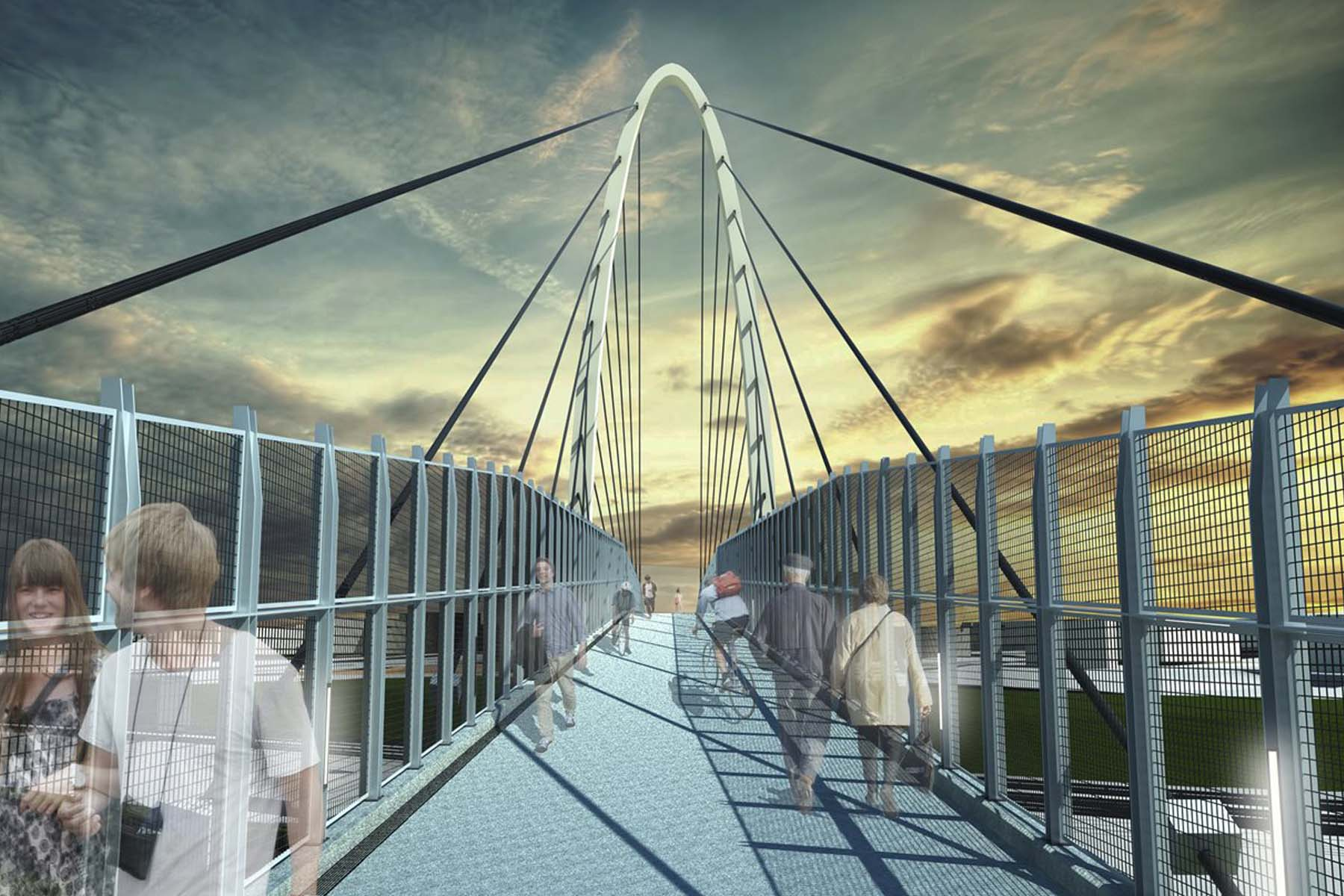 University Place<br/> Pedestrian Bridge